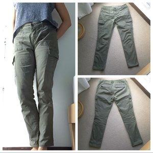 GAP Army Green Cargo Khakis, Skinny Boyfriend